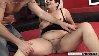 old bbw granny enjoying her younger plaything